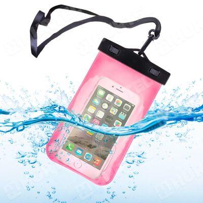 """Wodoodporny uniwersalny pokrowiec opaska na ramię armband 5,5"""" różowy"""