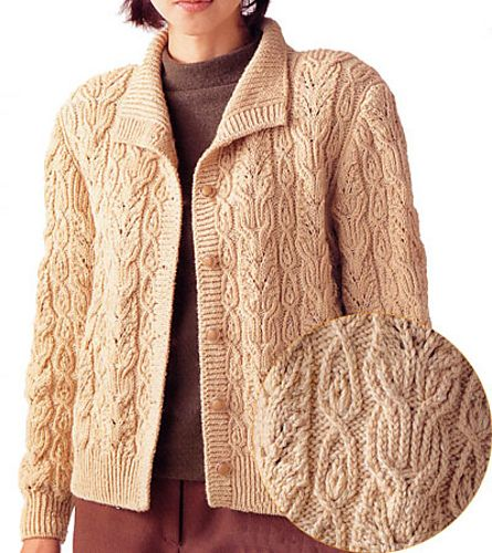 Free Pattern:  Cabled Cardigan