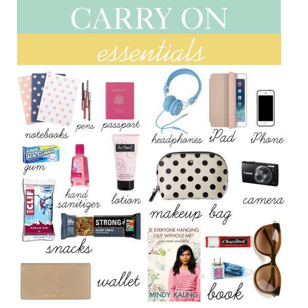 """Travel Tips Packing Hacks Tips Essentials: """"Carry On Essentials"""" By Zayrand On Polyvore : Travel"""