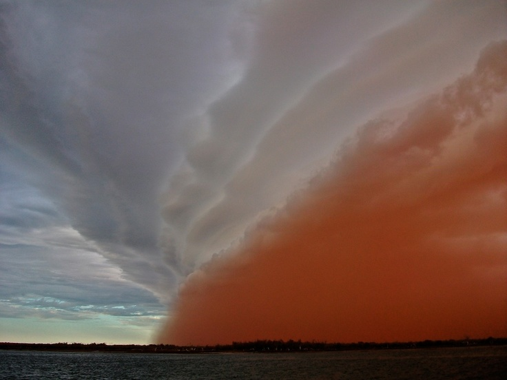 Sandstorm close by Wilderness Island by Harry Butler