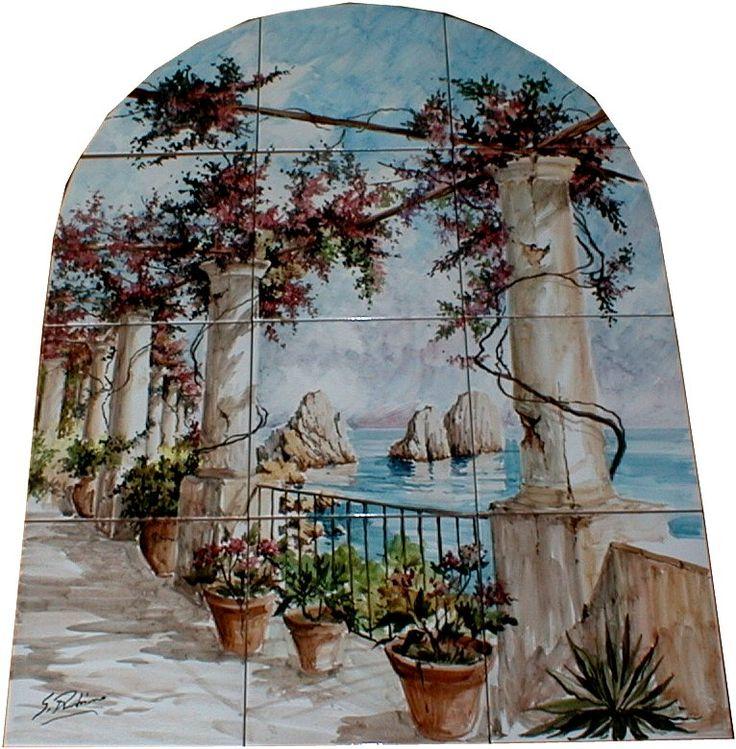 Pannello maiolicato, Capri