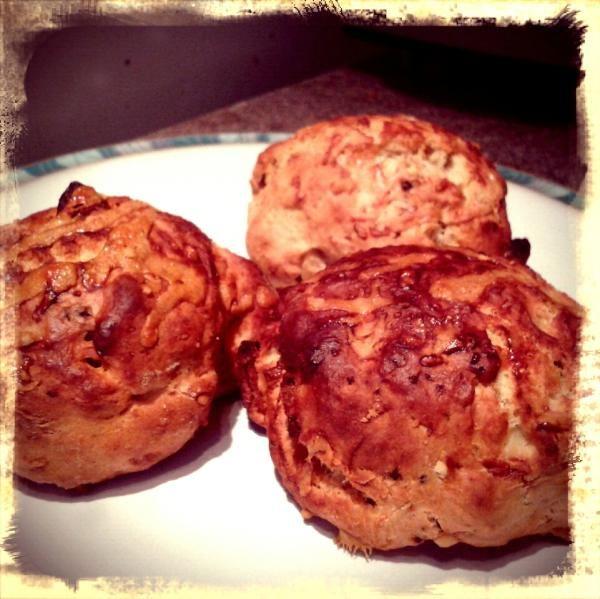 Parmesan and bacon scones