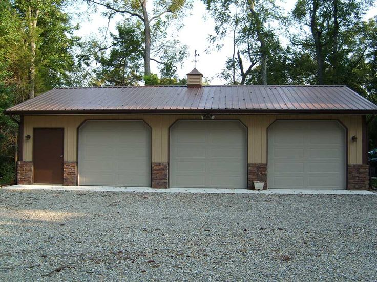 Door Pole Pole Barn Garage Plans Gable Roof Buildings