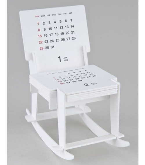 How genius is this 2012 Rocking Chair Sculpture Calendar by Katsumi Tamura for Good Morning, Inc.?