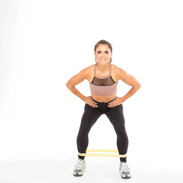 Wednesday W3 Mini Band Squat + Leg Abduction Daily Workout – Tone It Up