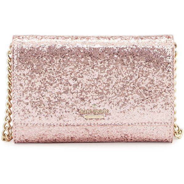 kate spade new york glitter bug cami crossbody bag (£100) ❤ liked on Polyvore featuring bags, handbags, shoulder bags, rose, crossbody shoulder bags, kate spade handbag, patent leather handbags, chain crossbody purse and flap crossbody
