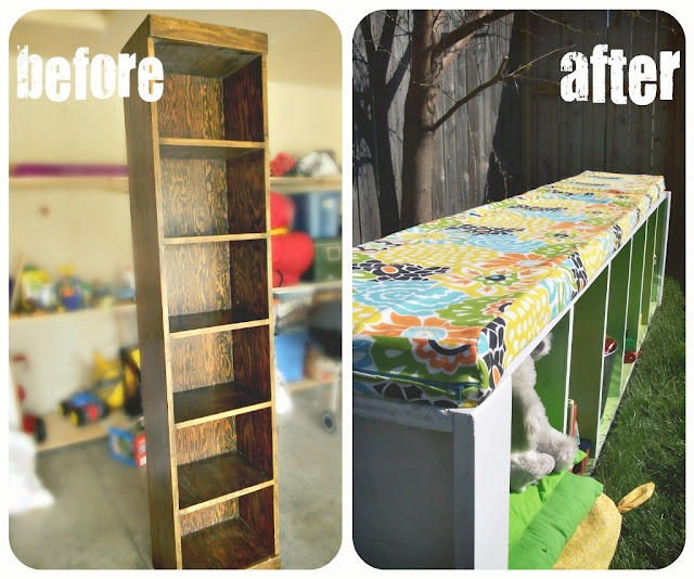 Bookcase to Bench