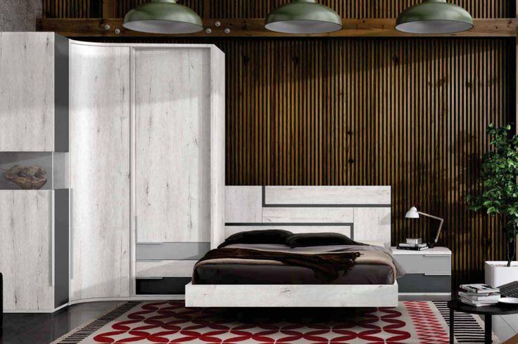 Dormitorio de matrimonio para colchón de 150x190cm. Mide ... - photo#17