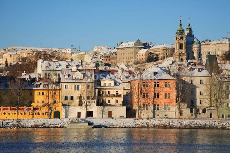 Vltava River and Kampa Island, Prague, Czech Republic