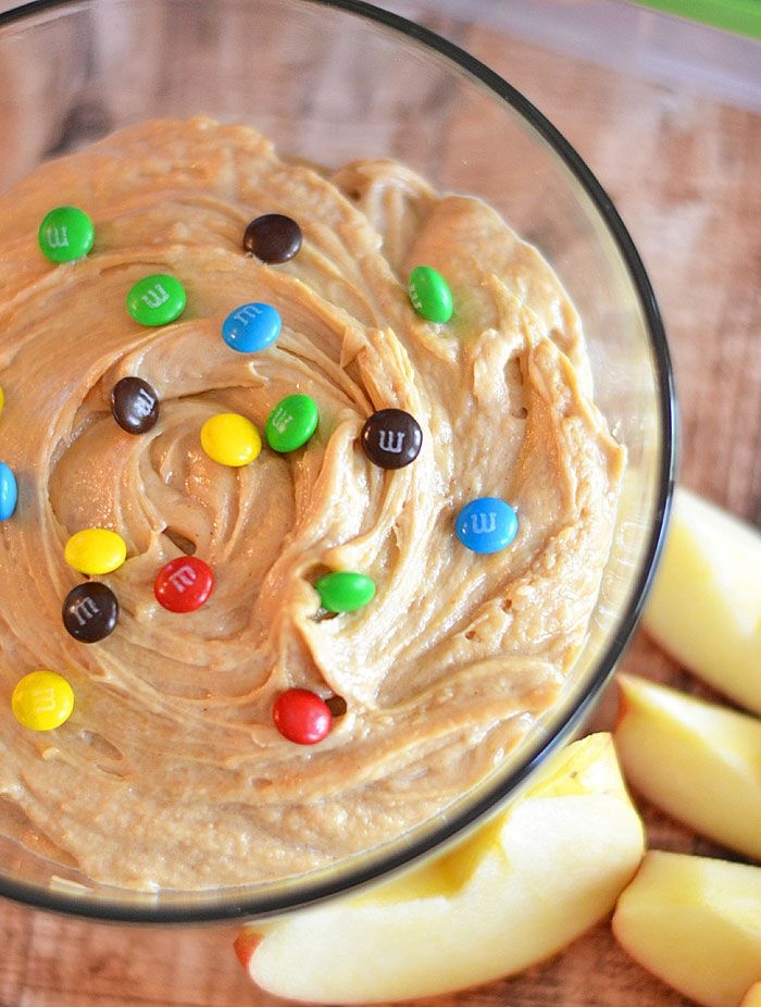 Whipped peanut butter, brown sugar and cream cheese are the perfect combination for this fluffy dip! Yes please!