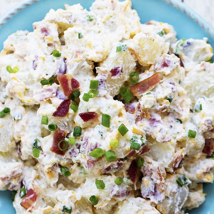 Bacon Ranch Potato Salad Recipe Yummly Recipe Potatoe Salad Recipe Ranch Potato Salad Bacon Ranch Potato Salad