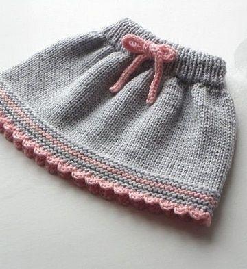 ab30f9e57 Polleras y faldas tejidas a crochet para niña a la moda | Crochet ...