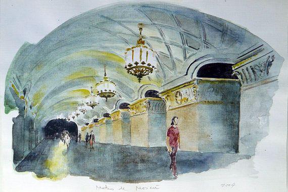 Moscú estación de Metro regalo coleccionistas de arte