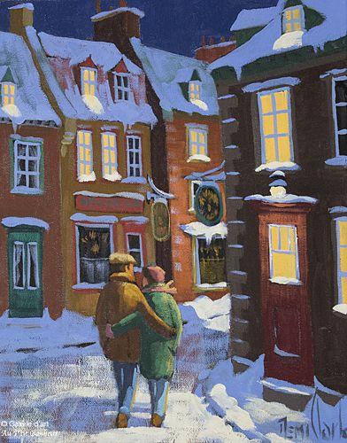 Rémi Clark, 'Par les rues', 11'' x 14''   Galerie d'art - Au P'tit Bonheur - Art Gallery
