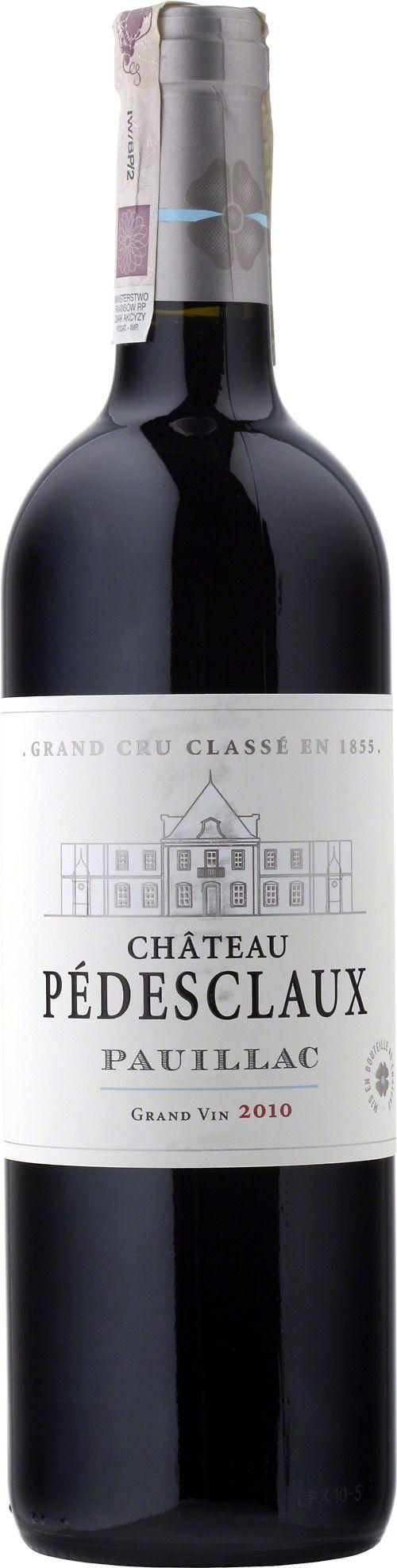 Chateau Pedesclaux 5-Eme G.C.C. Pauillac Wino klasyczne dla apelacji, rubinowo-granatowy kolor, wyraziste taniny, świetnie zrónoważone, bogate aromaty czarnych porzeczek, wiśni, tytoniu i gorzkiej czekolady. #Wino #Bordeaux #Pauillac #Winezja #Chateau