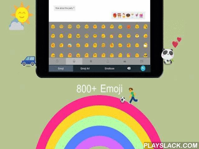 Emoji Keyboard - Color Smiley  Android App - playslack.com , Goodbye to pale words, hello to colorful emoji! Free 800+ emoji is just a click away from you! Download this Emoji Keyboard to get colorful emoji and cute emoticon, which can be showed up perfectly in your emails, text messages, SMS, Facebook Messenger, Twitter, Whatsapp, Wechat, Google Talk, Line and many other popular applications! TouchPal Emoji Keyboard - The No.1 popular FREE keyboard on Play. Perfect combination of fun and…