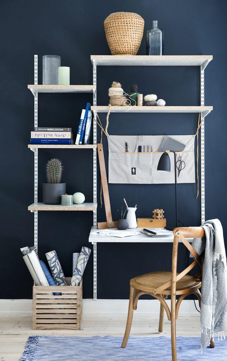 Design ditt eget kule skrivebord med hyller