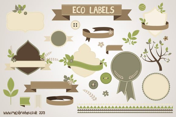 Eco Labels ~~ A large set of carefully created eco-friendly style labels and natural elements which could be used for posters, leaflets,  brochures, invites, stationery and paper crafts. 30 illustrations in total in this collection. These designs are also excellent for …