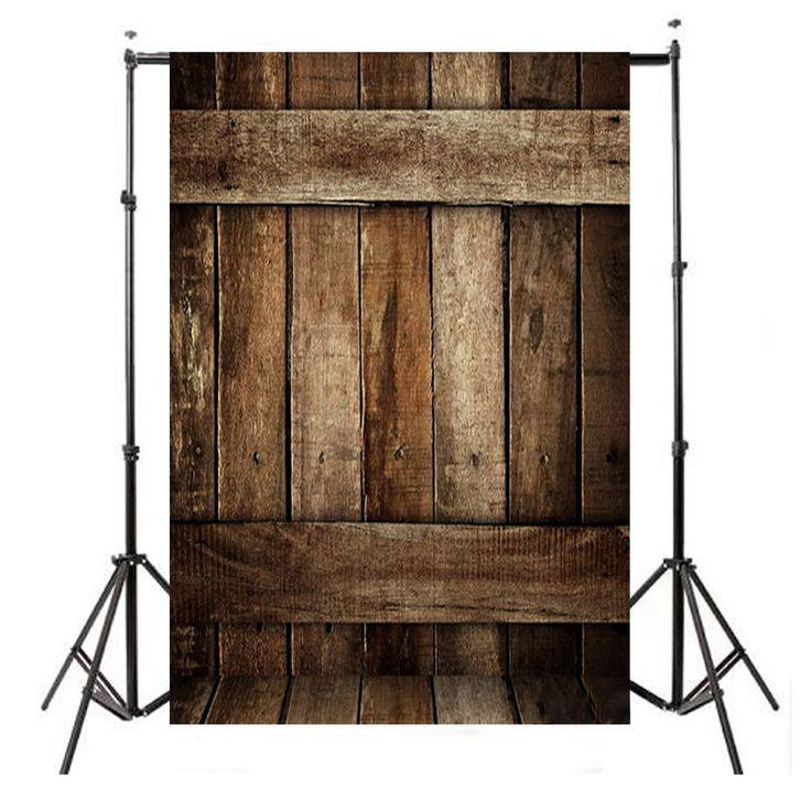 3x5FT vinilo vintage retro fondo de madera de fondo estudio prop fotografía de fondo