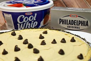 Easy Peanut Butter Cheesecake Recipe - Kraft Recipes I think I'll use a chocolate cookie pie crust and then drizzle with chocolate on top. Yum!