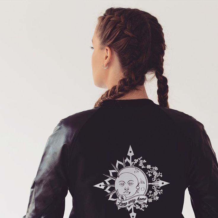 Only Good Vibes. #long #way #home #varsity #jacket #plait #urban #streetwear #streetstyle #polishgirl #dziewczyna #kurtka #dobranocka #najlepiej #details #fashion #lover #nice #newbrand #madeinpoland #goodstuff #księżyc