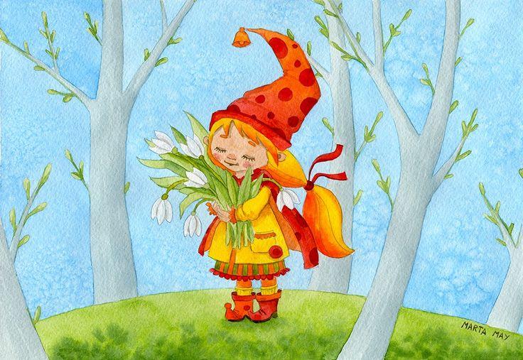 Марта Май. Детские иллюстрации, добрые картинки.