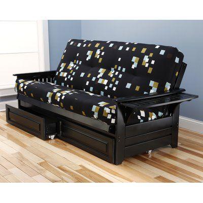 Harwich Modern Blocks Futon and Mattress Frame Finish: Black - http://delanico.com/futons/harwich-modern-blocks-futon-and-mattress-frame-finish-black-697890911/