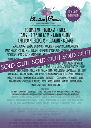 #ZeroDegreesEvents -Top Tip: 29-31 August. #ElectricPicnic - FULL LINE-UP. ALL TICKETS SOLD OUT
