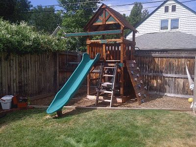 playset for small backyard | The Great Outdoors | Pinterest