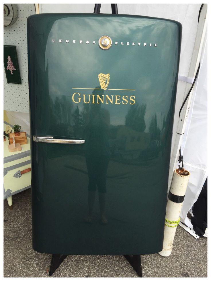 Retro Irish Pub Decor, Re-purposed vintage G.E. refrigerator door wall hanging, man cave/garage, bar room decor by TheRetroRevival on Etsy https://www.etsy.com/listing/233316660/retro-irish-pub-decor-re-purposed