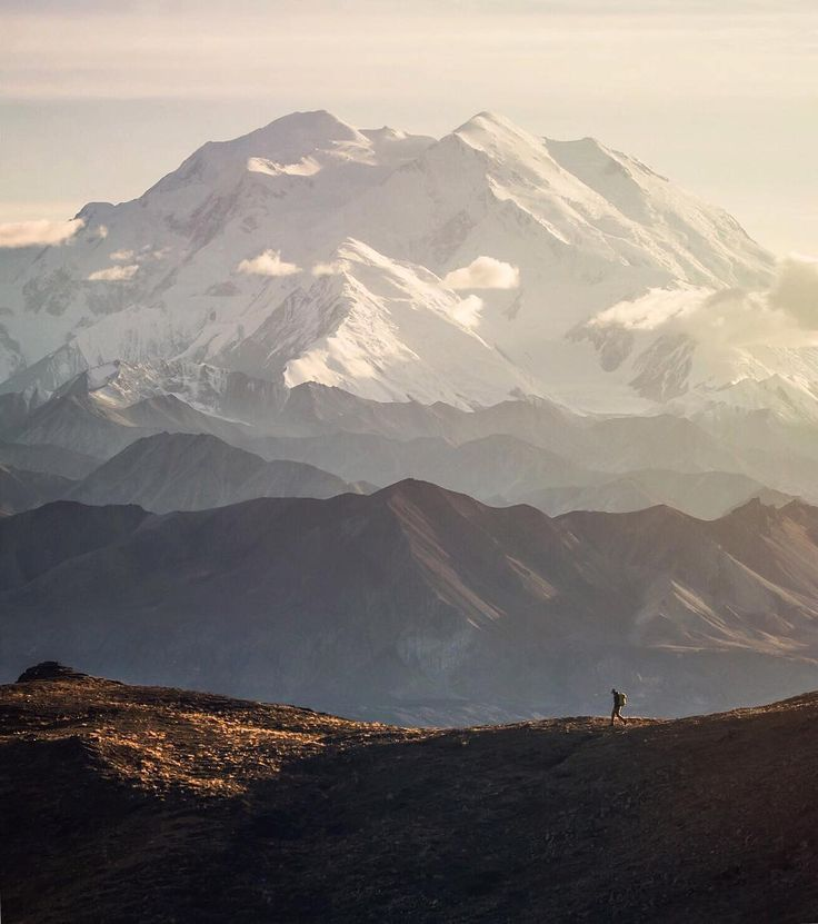 """Denali, the highest peak in North America (@scott_kranz)"""