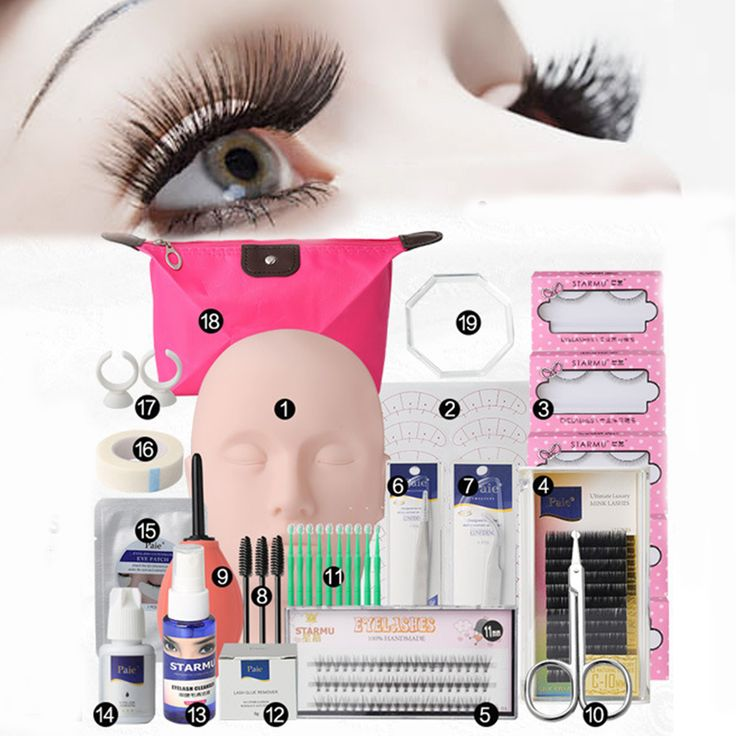 Semi Permanent Eyelash Extensions Set Makeup Individual Curl Glue Tool Kit With Bag online - NewChic Mobile