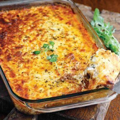 Meat lasagna - no noodles - GREAT keto friendly recipe
