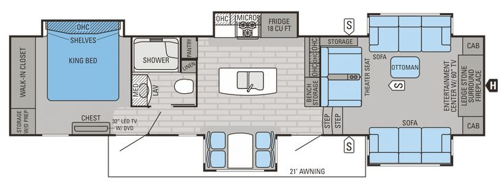2015 Pinnacle 38FLSA Floorplan ~ with standard paint ~ $88,067 MSRP