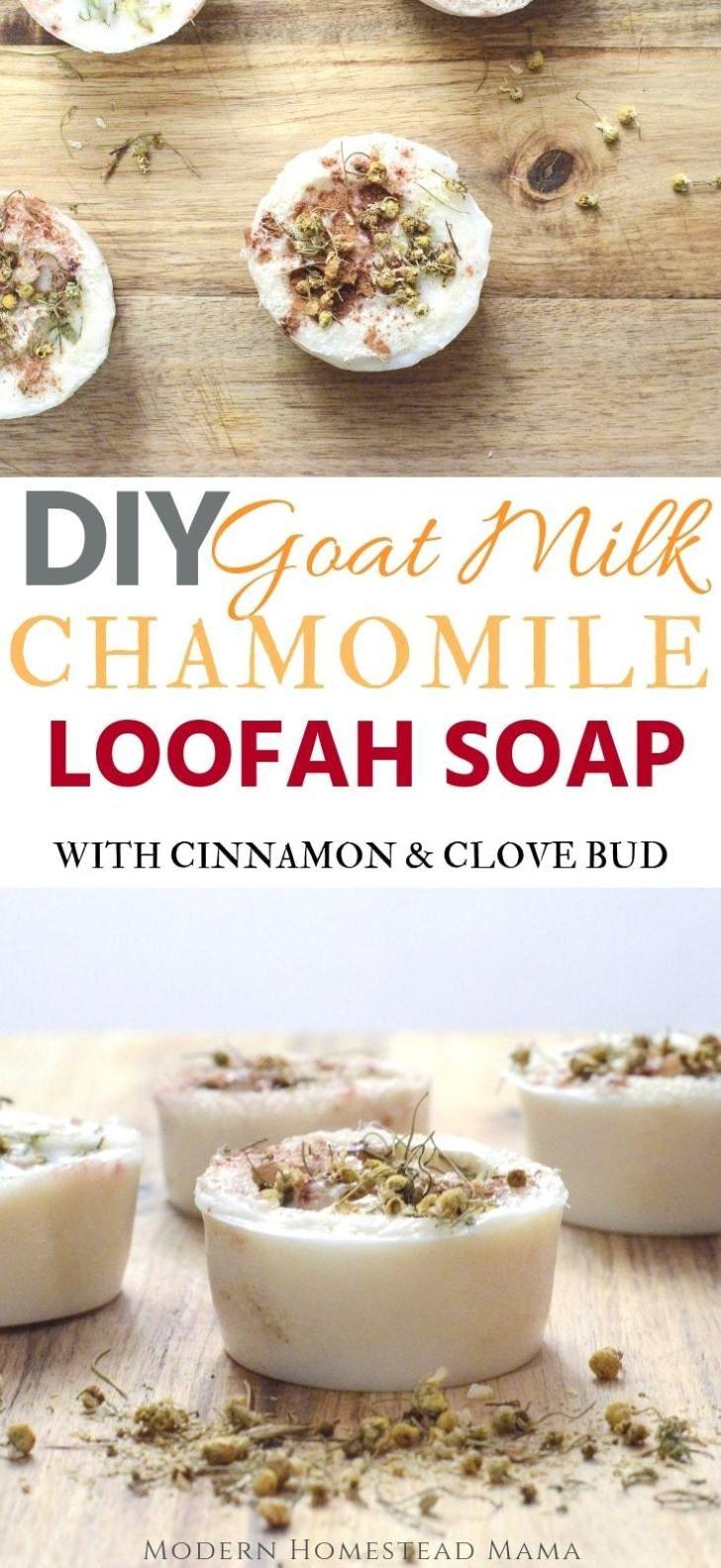 DIY goat's milk chamomile loofah soap   – Muddy creek goats