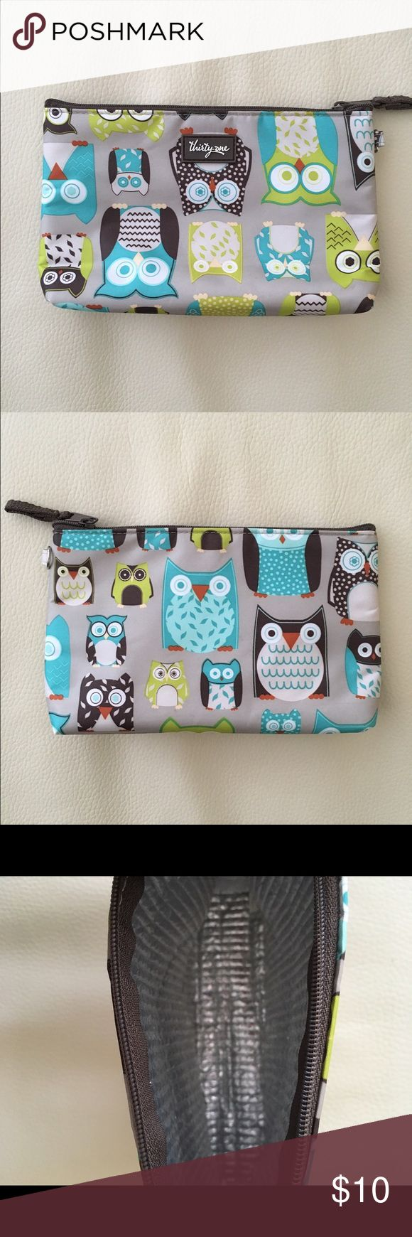 Thirty One Owl Thermal Pouch Great for smaller cold or hot items! Good used condition. Very cute print! 8x5 measurements. Thirty One Other