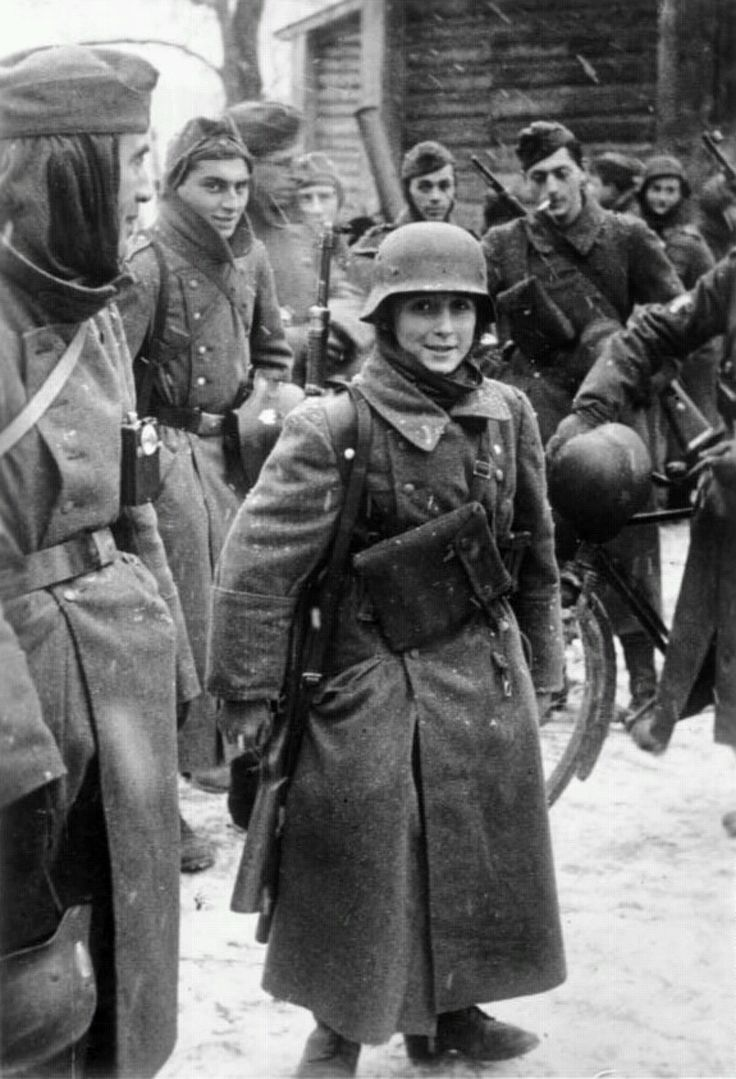 A young german soldier before the battle of Rostov 1943.