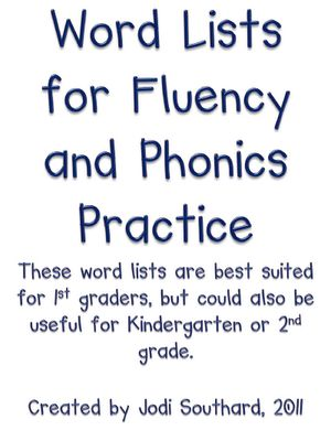 Fluency Word ListsConfirmation Email, Sight Words, 1St Grade Phonics, Phonics Practice, Classroom Freebies, 1St Grade Literacy Ideas, Words Lists, 1St Grade Reading Fluency, Struggling Reader
