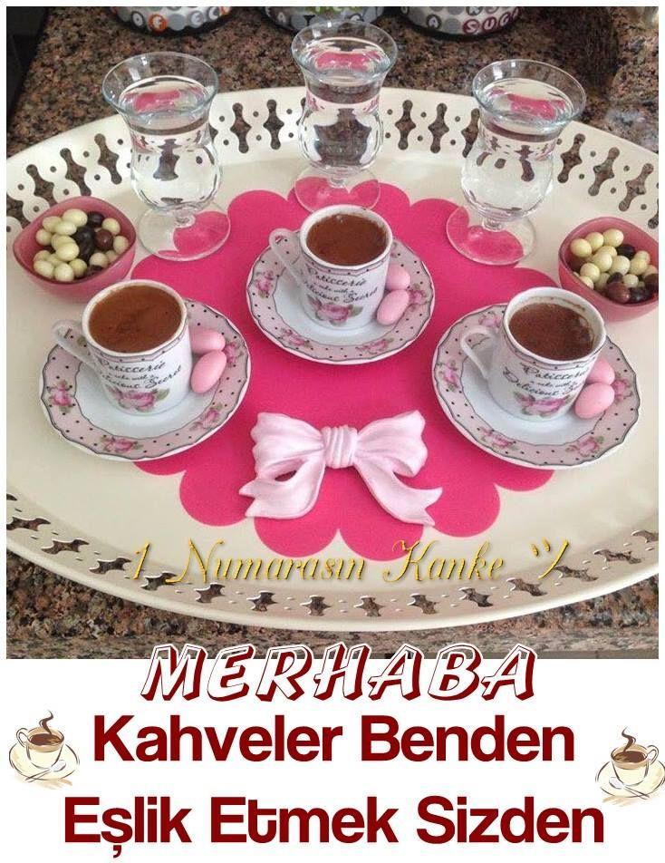 Merhaba. Kahve benden, eşlik etmek sizden #kahve cikolata tepsi su kopuk eslik