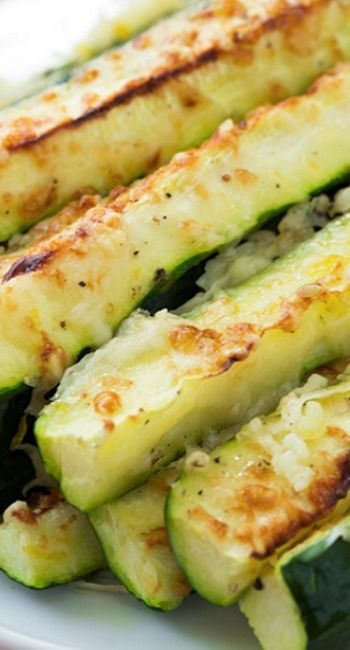 Garlic Lemon and Parmesan Oven Roasted Zucchini Recipe ~ Incredibly easy to make and delicious!