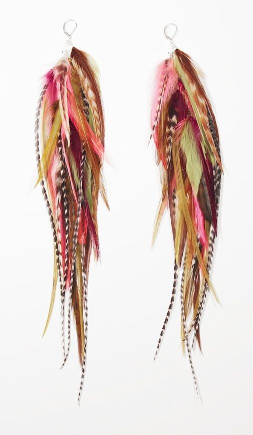 I don't own any feather jewelry but the colors on these ARE pretty!