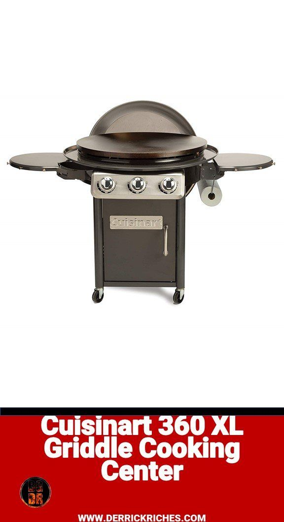 Cuisinart 360 Xl Griddle Cooking Center, Cuisinart Round Flat Top Grill