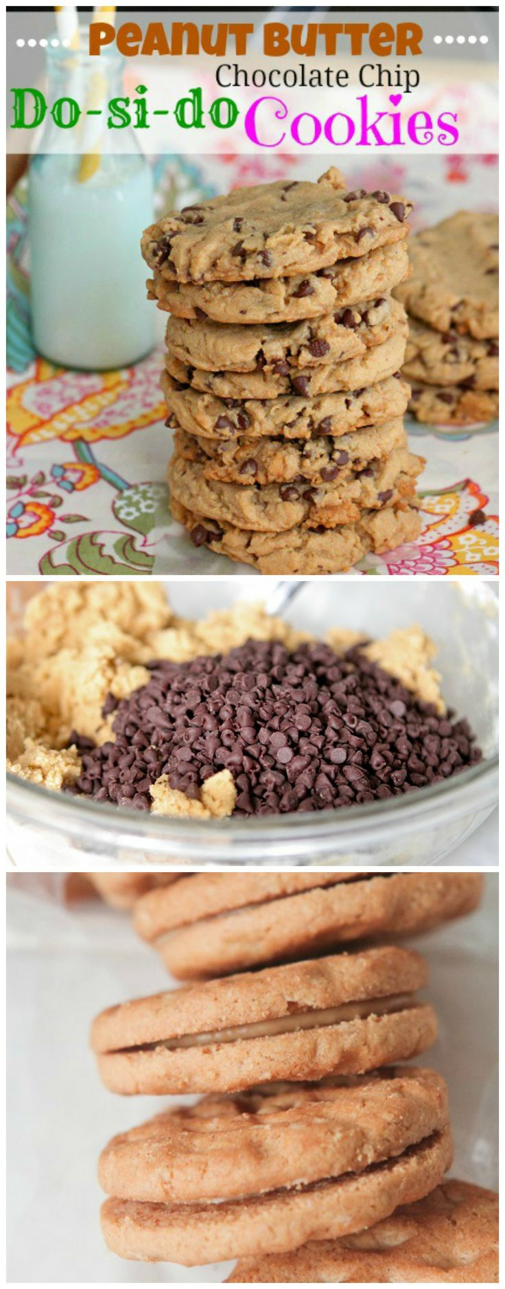 Peanut Butter Do-si-do Chocolate Chip Cookies!
