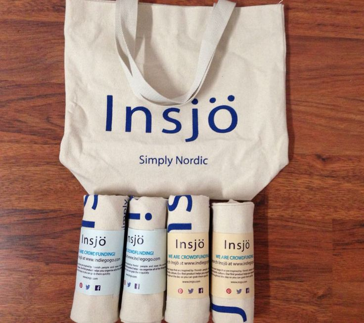 Insjö canvas shopping tote bag