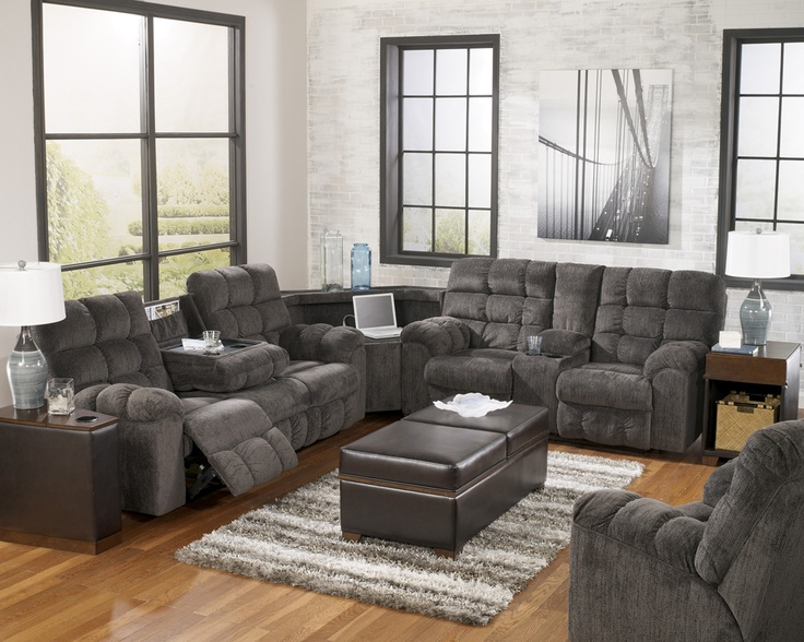 Acieona Slate Reclining Console Smart Sectional By Ashley Furniture Reviews