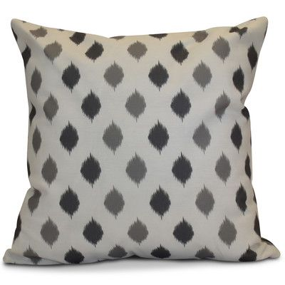 """The Holiday Aisle Hanukkah 2016 Decorative Holiday Geometric Outdoor Throw Pillow Size: 16"""" H x 16"""" W x 2"""" D, Color: Gray"""