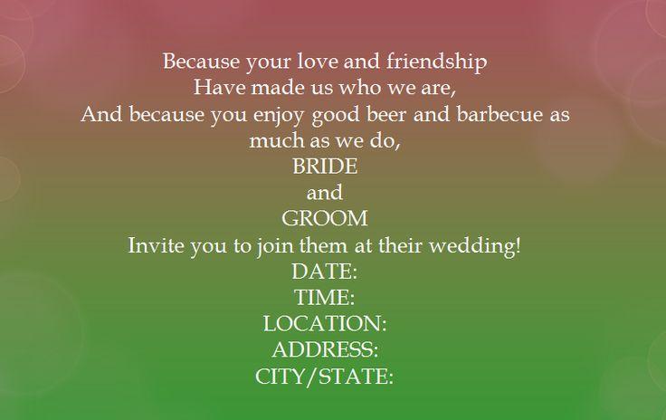 Wedding Invitations Wording Casual: 25+ Cute Casual Wedding Invitation Wording Ideas On