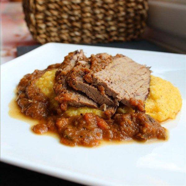"""Brasato al Barolo - Braised Chuck Roast in Red Wine I """"Chuck roast is marinated overnight then braised in hearty red wine for hours to render a flavorful and succulent meat. This is a traditional dish from Northern Italy typically served on Sundays."""""""