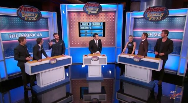 The Avengers Assembled To Play Family Feud With Jimmy Kimmel, So I'd Like For Them To Adopt Me Now