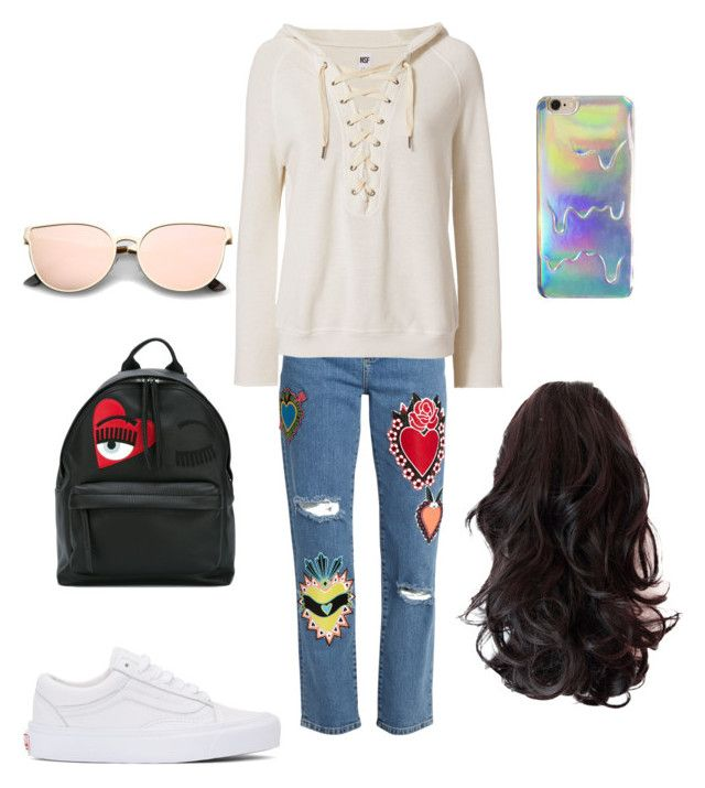 """""""casual outfit"""" by alexia-nistor on Polyvore featuring House of Holland, NSF, Vans and Chiara Ferragni"""